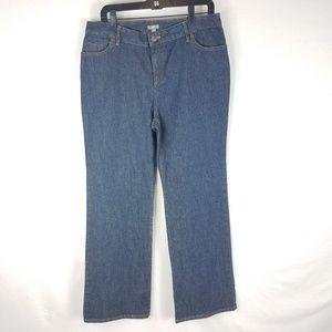 J. Jill Stretch Jeans Wide Leg Cotton Blue 14